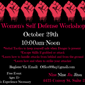 Womens Self Defense - Free Workshop! - Oct. 29th