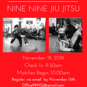 Nov. 19th - In House Jiu-Jitsu Tournament