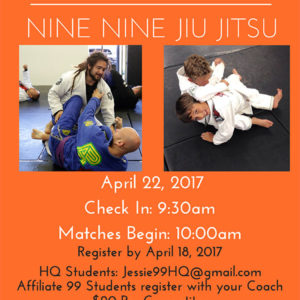 In-House Jiu-Jitsu Tournament April 22, 2017