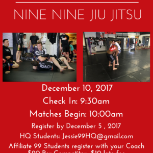 99 BJJ In House Tournament - Dec 10th 2017